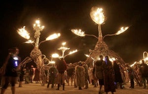 God Smites Hippie Heathens at Burning Man