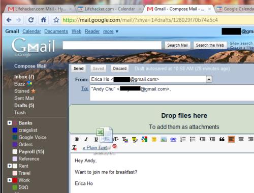 Gmail Adds Drag-and-Drop Attachment Uploads, Deeper Calendar Integration