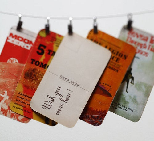 Recycle Old Book Covers into Vintage-Inspired Post Cards