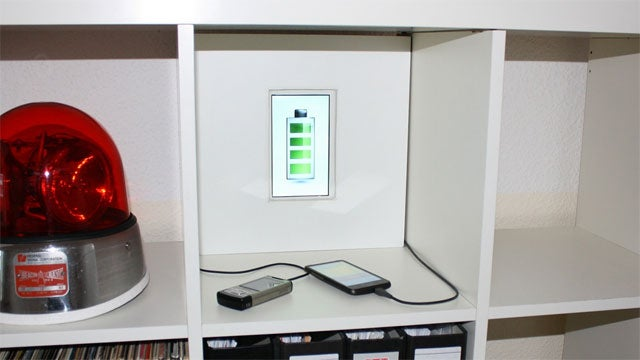 Use a Fake Wall To Create a Clean Charging Station