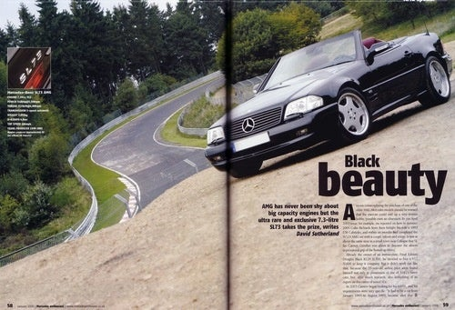 Mercedes-Benz SL73 AMG in January 2006 Issue of Mercedes Enthusiast