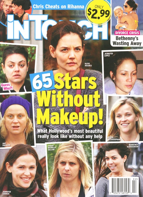 This Week In Tabloids: 2013 Brings Stars Without Makeup and Bikini Bodies