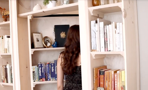 The Secret Bookshelf Door