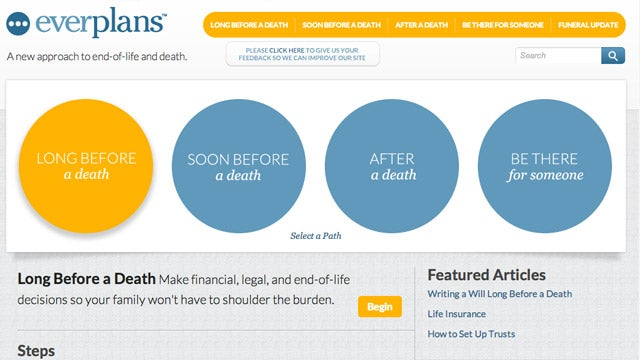 Everplans Walks You Through All the Steps Needed to Deal with Death (Yours or Someone You Know)