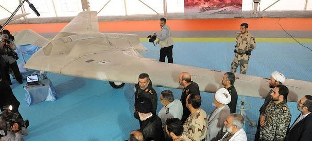 Iran unveils bootleg copy of US Sentinel stealth drone