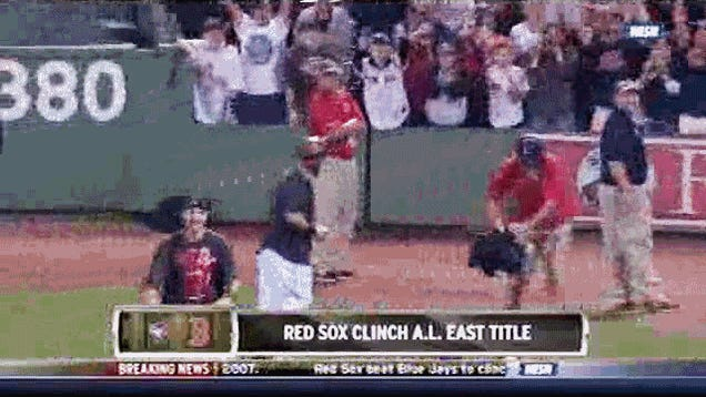 Jonny Gomes Punts Beers, Hits Old Guy In The Dome