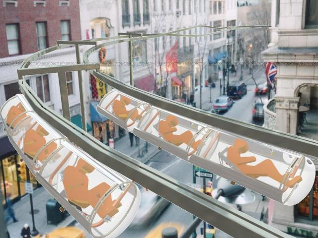 Crazy Human-Powered Monorail Would Deliver You to Work in a Sweaty Capsule