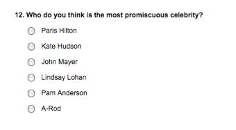 """Why Does Parade Magazine Have A """"Most Promiscuous"""" Category In Their Reader Poll?"""