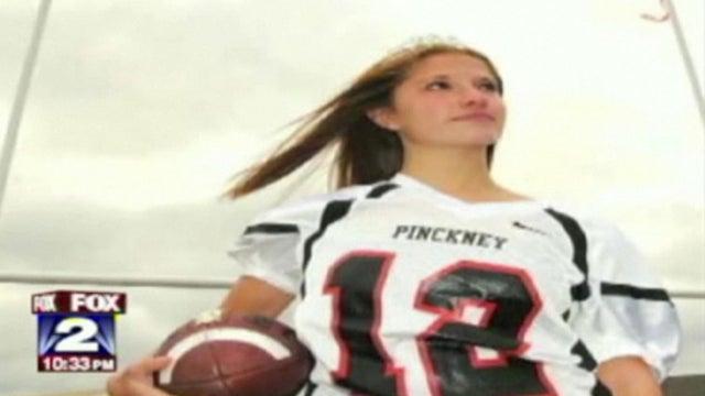 Homecoming Queen Kicks Winning Field Goal