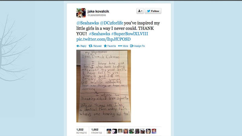 Happy Cry: Deaf NFL Player Gets Adorable Note From Deaf Twin Girls