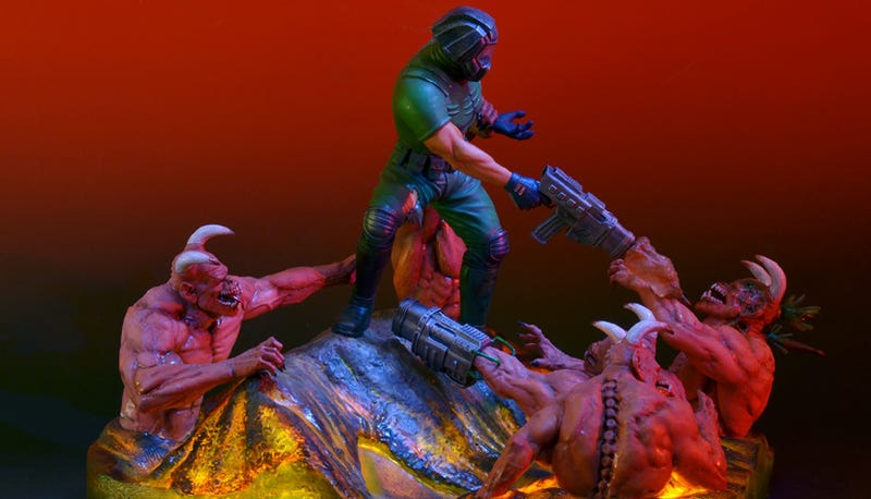 For $400, You Too Can Enjoy Doom Guy Curbstomping Demons on Your Desk