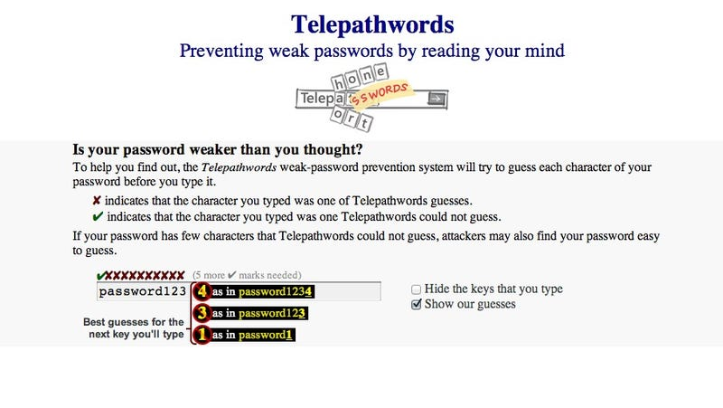 Oh Good, a Magical Internet Machine That Guesses your Passwords
