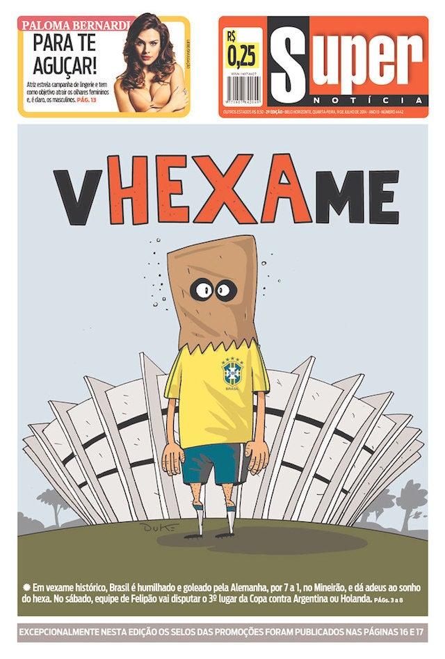 Today's Brazilian Newspaper Covers Are Pure Sadness