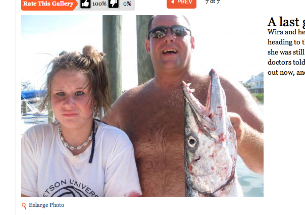 Traumatic Barracuda Injury Turned Into Hilarious Photo-Op