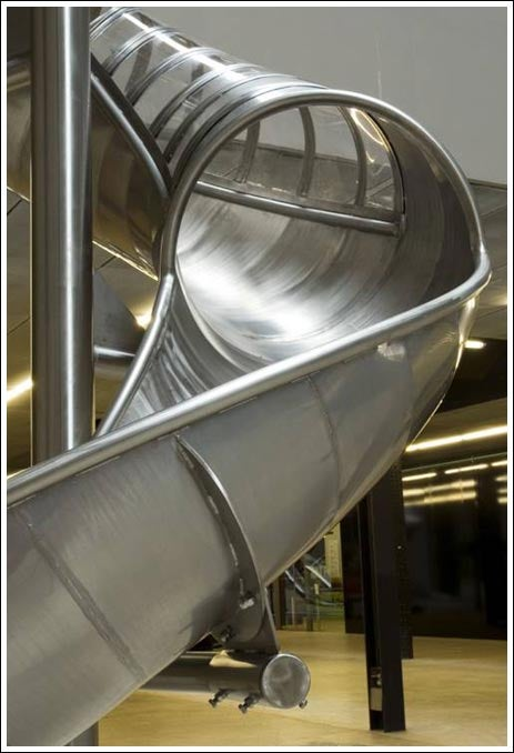 Awesome Tube Slide Should Replace Stairs