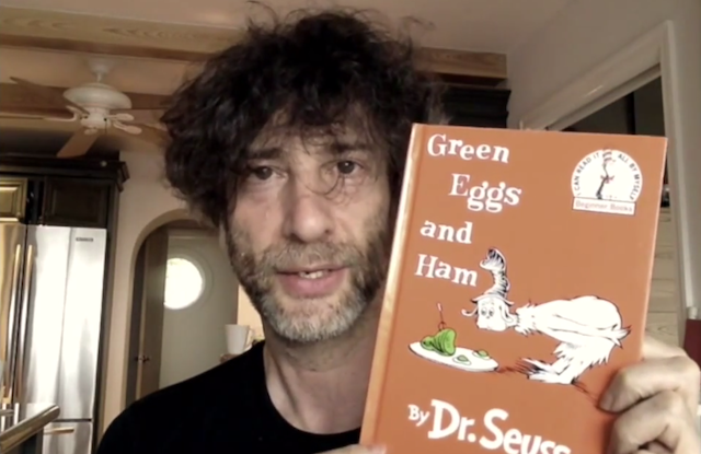 Neil Gaiman reading Green Eggs and Ham is pure wonderfulness