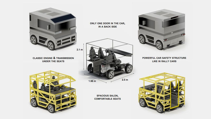 Russian Designer Pushes Cube Car To Its Logical Extreme