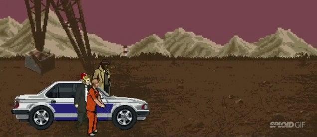 8-bit video game version of Se7en has the same sickening ending