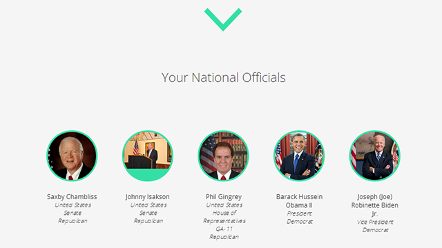 Map Your Representatives Finds Your Government Officials in a Flash