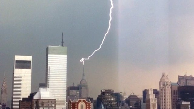 Spectacular Lightning Strikes Empire State Building