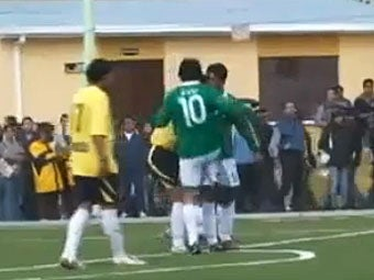 Bolivian President Slams Rival in the Balls During 'Friendly' Soccer Game