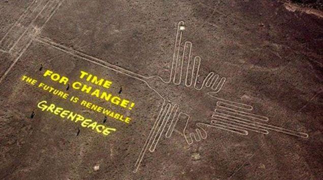 Greenpeace puede haber dañado gravemente las líneas históricas de Nazca