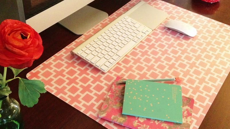 Roll Your Own Custom Mousepad With a Desk Pad and Wrapping Paper