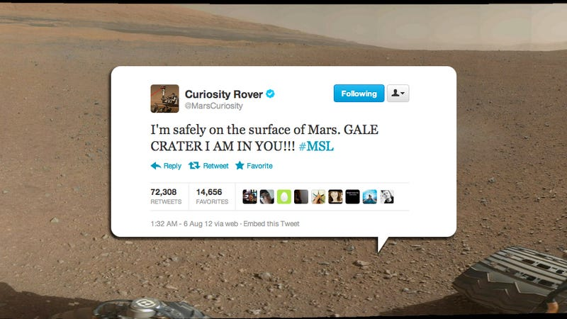 The Mars Rover's Insanely Cheery Twitter Account Is Creeping Me Out