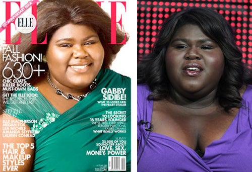 Elle Seems To Have Also Lightened Gabourey Sidibe's Skin