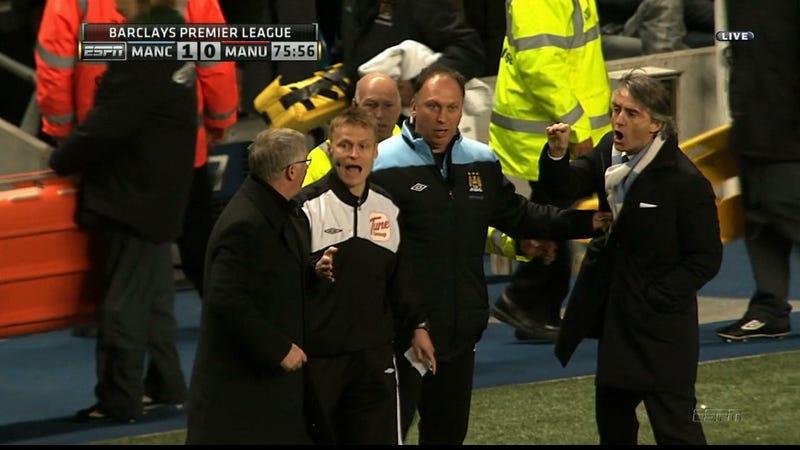 Roberto Mancini Told Sir Alex Ferguson To Shaddap You Face