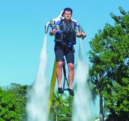 Water-Powered Jetpack Takes You Up, Up, But Not Away