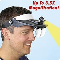 Light and Magnifying Hat Lets You See Your Lack of Friends Up Close