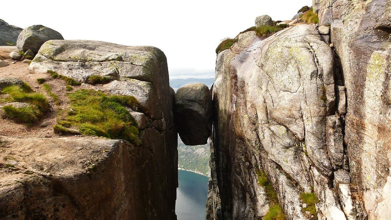 Possibly one of the weirdest geological formations in the world