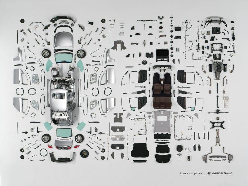 Hyundai Genesis Taken Apart In Awesome Time Lapse Video