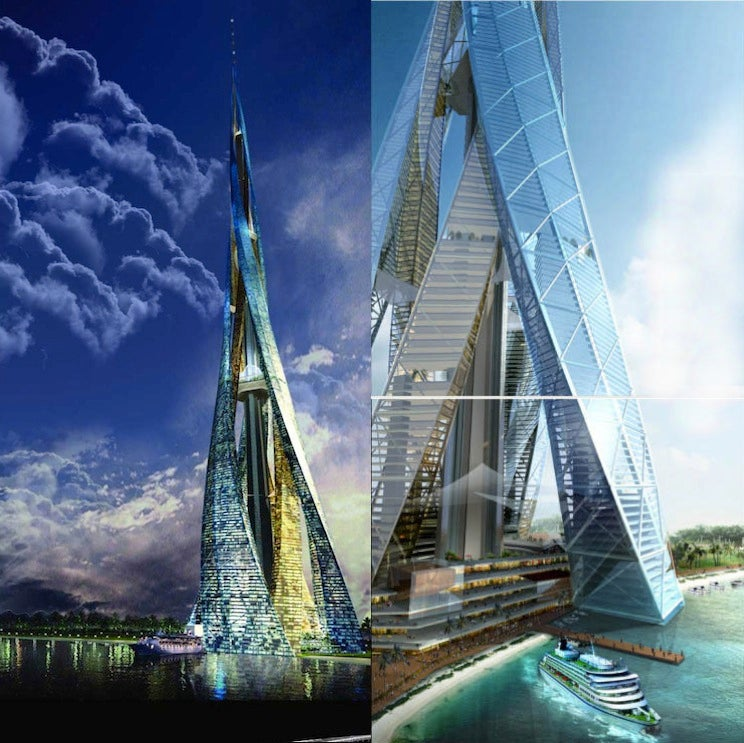 These futuristic cities are housed inside a single, gigantic building