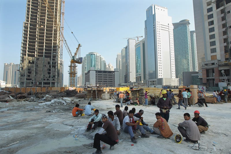 The Grim Secret Behind Qatar's Lavish New Stadiums: Human Rights Abuse