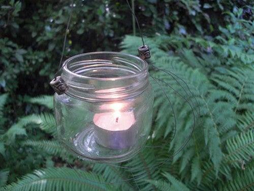 Turn Old Jars into Hanging Candle Lanterns