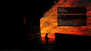 The Fiery Sunset Desktop
