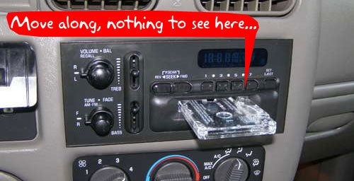 Hide Your Fancy Car Stereo Behind a Very Crappy Car Stereo