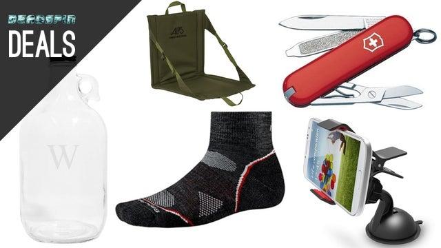 Swiss Army Gear, SmartWool Socks, Criterion Films, Custom Growler