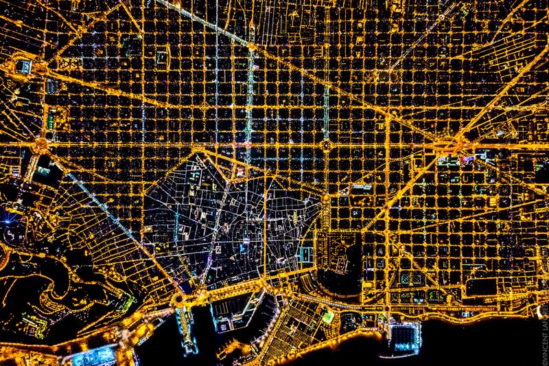 These photos of cities from 10,000 feet in the air are so glorious