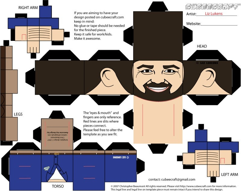 Billy Mays In Cubic Paper Form Still Looks Enthusiastic