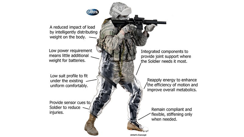 DARPA's Web Warrior Support System Helps Soldiers Hoist Heavy Loads