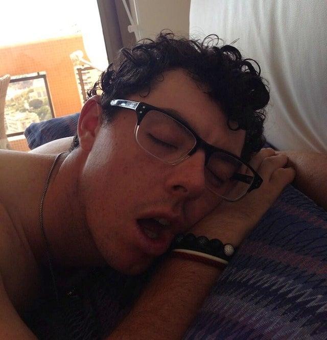 A Precious Photo Of Sleepy Rory McIlroy, Courtesy Caroline Wozniacki