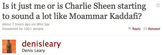 Everybody's Talking About Charlie Sheen