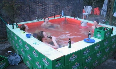 The Heineken Jacuzzi Bubbles Over With Beer Drinking Fun...and Possibly Vomit