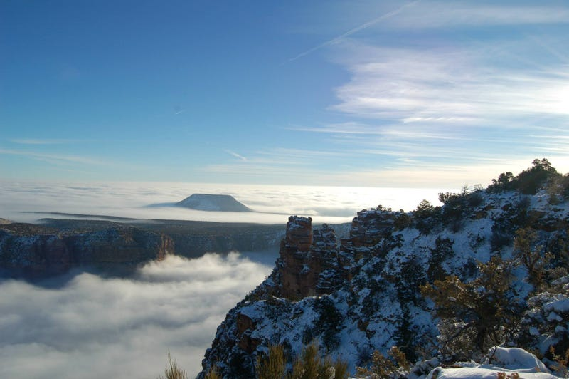 "Grand Canyon completely flooded by clouds in ""once-in-a-lifetime"" event"