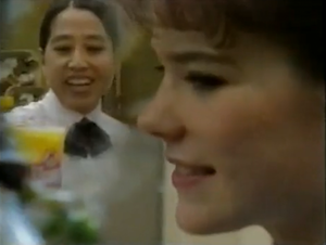 """Wendy's 1992 Employee Anthem For Lady Cashiers: """"Got to Serve the Drinks"""""""