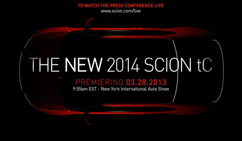 Scion To Debut New TC For People That Don't Want An FR-S For Some Reason