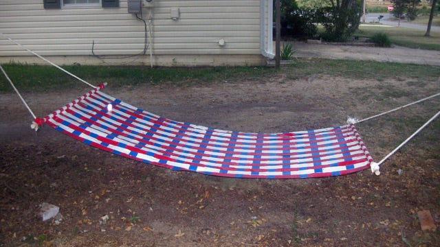 Make a Duct Tape Hammock for Cheap Summertime Lounging